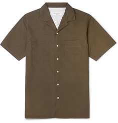 Officine Generale Don Camp-Collar Cotton-Poplin Shirt