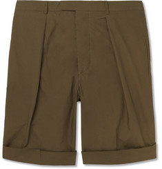 Officine Generale Cotton-Poplin Shorts