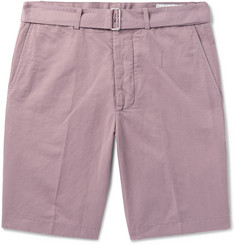 Officine Generale Julian Slub Cotton and Linen-Blend Shorts