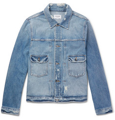 FRAME L'Homme Slim-Fit Distressed Denim Jacket