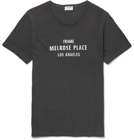 Frame Melrose Place Vintage Graphic T-shirt In Black