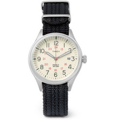 Timex - Waterbury United Stainless Steel and Nylon-Webbing Watch