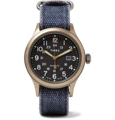 Timex Allied Bronze-Tone and Canvas Watch