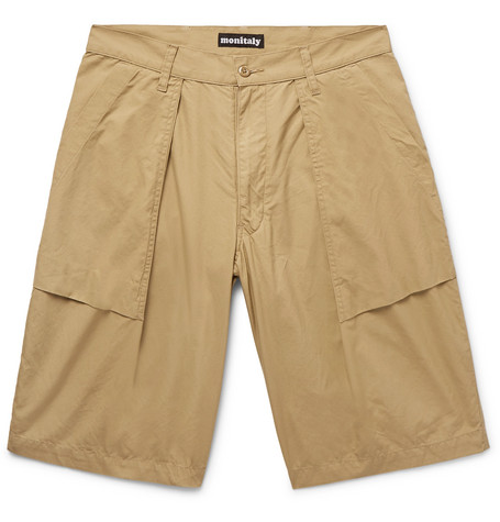 MONITALY Cotton Cargo Shorts CHj4f0Z4Jd