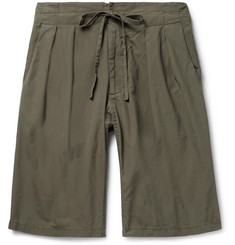 Monitaly Pleated Cotton Shorts