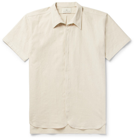 Auk Slub Linen And Organic Cotton Blend Shirt by The Lost Explorer