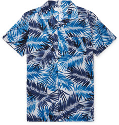 Onia Camp-Collar Printed Cotton-Voile Shirt