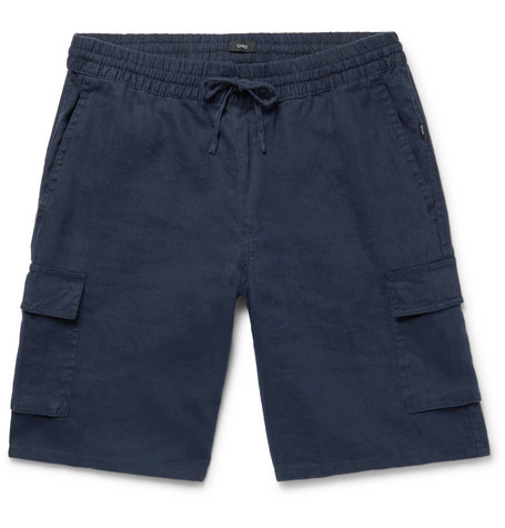 0fa1e74ea4 Onia Tom Slim-Fit Linen Drawstring Cargo Shorts - Navy | ModeSens