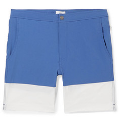 Onia Calder Long-Length Colour-Block Swim Shorts