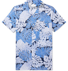 Onia Camp-Collar Printed Cotton Shirt