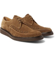 O'Keeffe - Bristol Leather-Trimmed Suede Derby Shoes