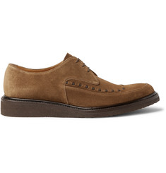O'Keeffe Bristol Leather-Trimmed Suede Derby Shoes