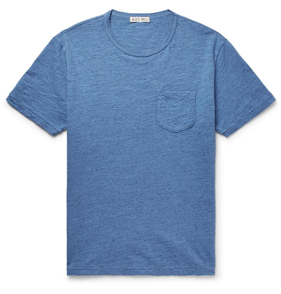 Mélange Slub Cotton-jersey T-shirt - Blue
