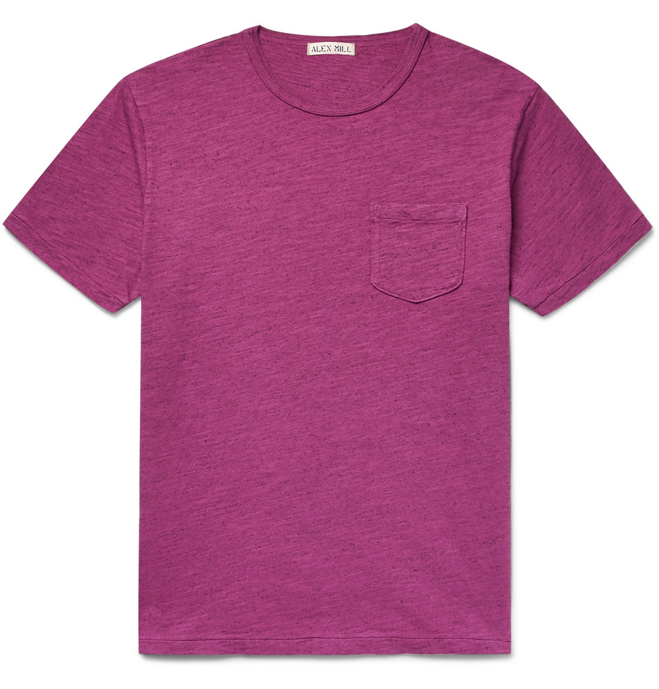 Mélange Slub Cotton-jersey T-shirt - Plum