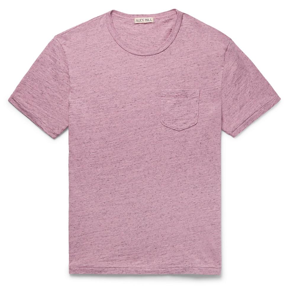 Mélange Slub Cotton-jersey T-shirt - Pink