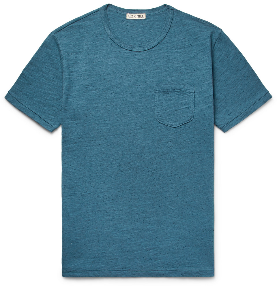 Mélange Slub Cotton-jersey T-shirt - Teal