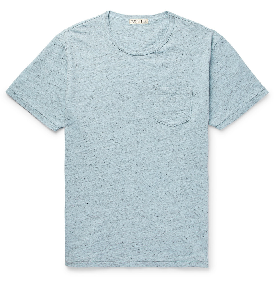 Mélange Slub Cotton-jersey T-shirt - Sky blue