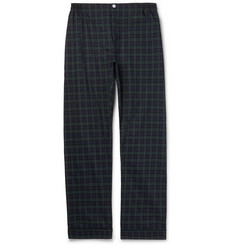 Sleepy Jones Marcel Piped Black Watch Checked Cotton Pyjama Trousers