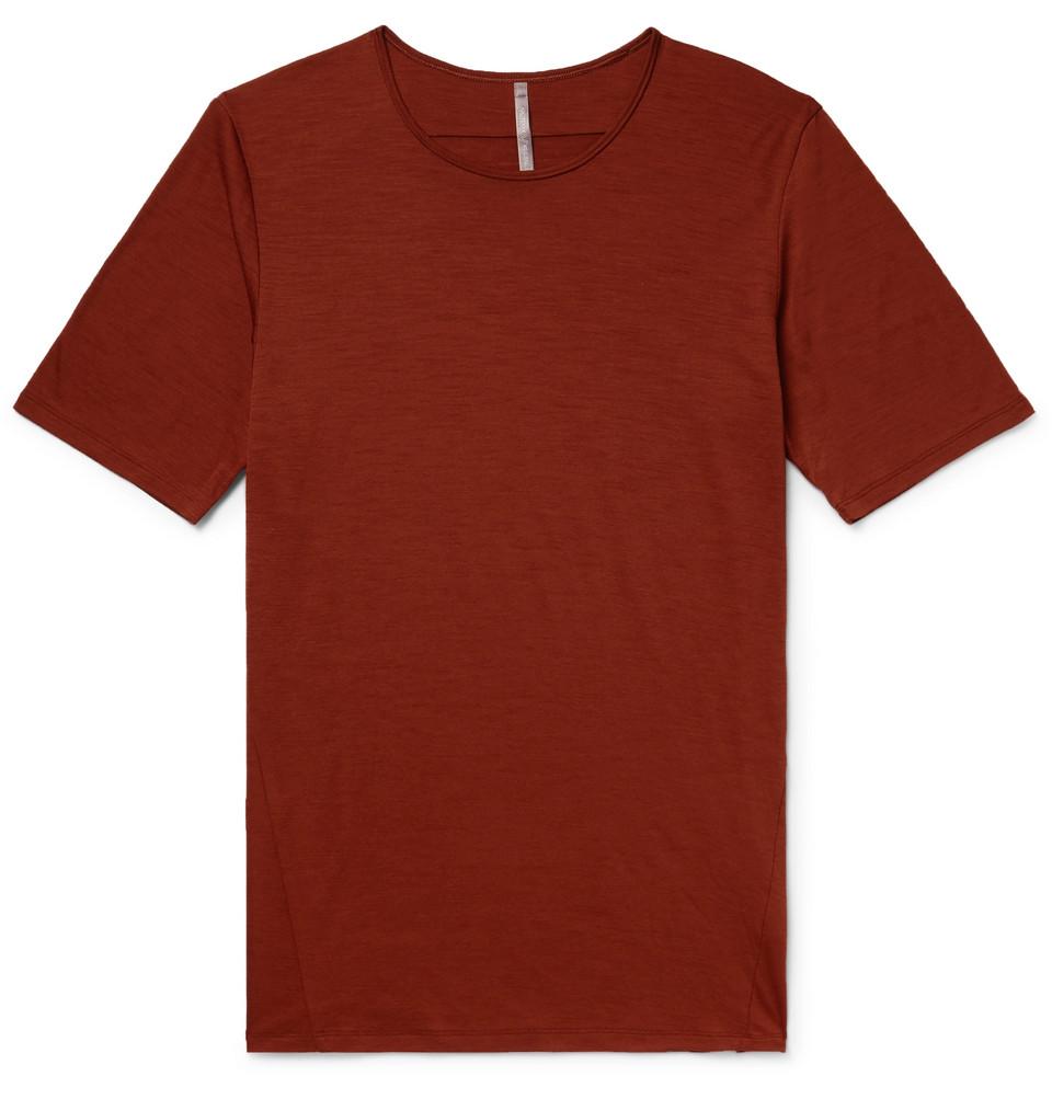Frame Slub Merino Wool-jersey T-shirt - Brick