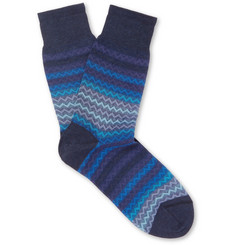 Missoni Jacquard-Knit Cotton Socks