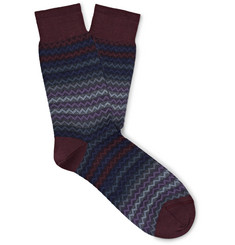 Missoni Crochet-Knit Cotton Socks