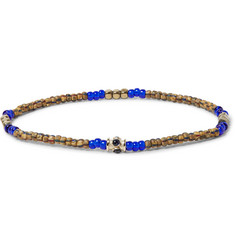 Luis Morais Glass Bead, Gold-Tone and Stone Bracelet