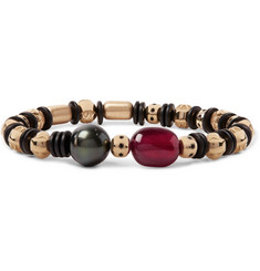Luis Morais - Gold, Ruby and Pearl Bead Bracelet