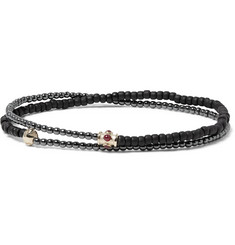 Luis Morais - Hematite, Gold-Tone and Ruby Wrap Bracelet