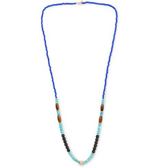 Luis Morais - Bead, Gold-Tone and Multi-Stone Necklace