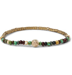 Luis Morais Glass, Gold and Hematite Bead Bracelet