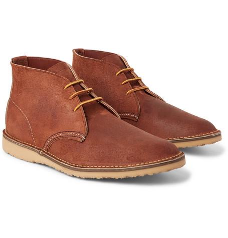 Red Wing Weekender Brushed-leather Chukka Boots - Brown Moins Cher Pas Cher En Ligne Fiable À Vendre Le Dernier Pas Cher jvx25sR9d
