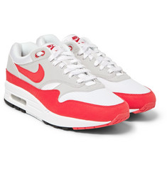 Nike OG Air Max 1 Anniversary Edition Suede and Mesh Sneakers