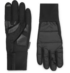 Cafe du Cycliste Quilted Shell-Panelled Stretch-Jersey Gloves
