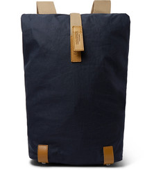 Brooks England - Pickwick Small Leather-Trimmed Canvas Backpack