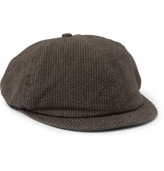 RRL Striped Cotton Flat Cap