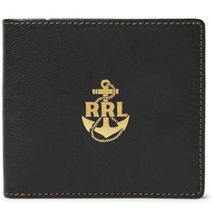 RRL Printed Textured-Leather Billfold Wallet