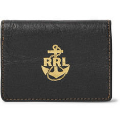 RRL Printed Textured-Leather Bifold Cardholder