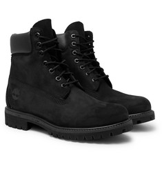 Timberland - Premium Waterproof Leather-Trimmed Nubuck Boots