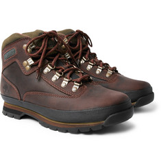 Timberland - Euro Hiker Rubber-Trimmed Leather Boots