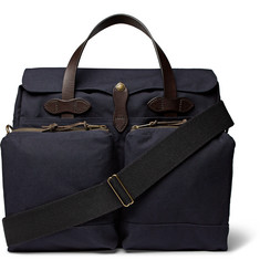 Filson 24-Hour Leather-Trimmed Tin Cloth Briefcase