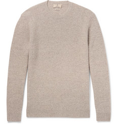 Hackett Elbow-Patch Mélange Linen, Wool, Silk and Cashmere-Blend Sweater