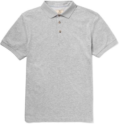 Hackett Cotton-piquÉ Polo Shirt In Gray