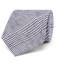 Hackett - 8cm Prince of Wales Checked Cotton and Silk-Blend Tie