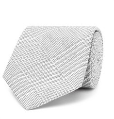 Hackett 8cm Prince of Wales Checked Cotton and Silk-Blend Tie