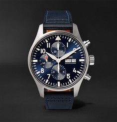 IWC SCHAFFHAUSEN + Santoni Pilot's Le Petit Prince Edition Chronograph 43mm Stainless Steel and Leather Watch and Bel