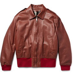 CALVIN KLEIN 205W39NYC - Shearling-Lined Leather Jacket