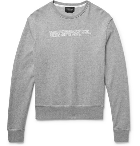 Embroidered Loopback Cotton Jersey Sweatshirt by Calvin Klein 205 W39 Nyc
