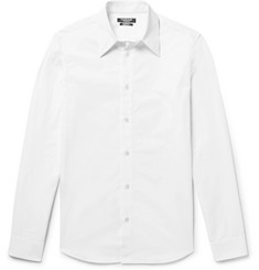 CALVIN KLEIN 205W39NYC - Slim-Fit Embroidered Cotton-Poplin Shirt