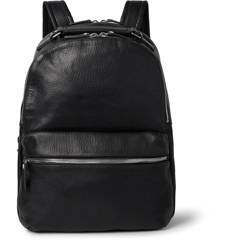 Runwell Full-grain Leather Backpack - Black