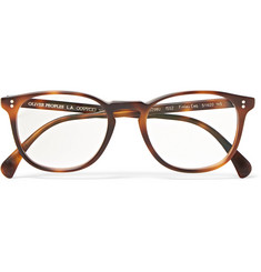 Oliver Peoples Finley Esq D-Frame Tortoiseshell Acetate Optical Glasses